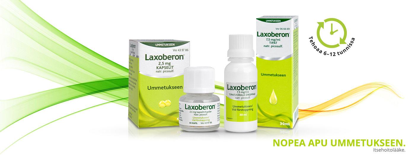 LAXOBERON®, nopea, ennakoitava apu ummetukseen
