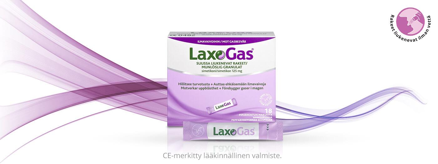 LAXOGAS®, apu turvotukseen ja ilmavaivoihin