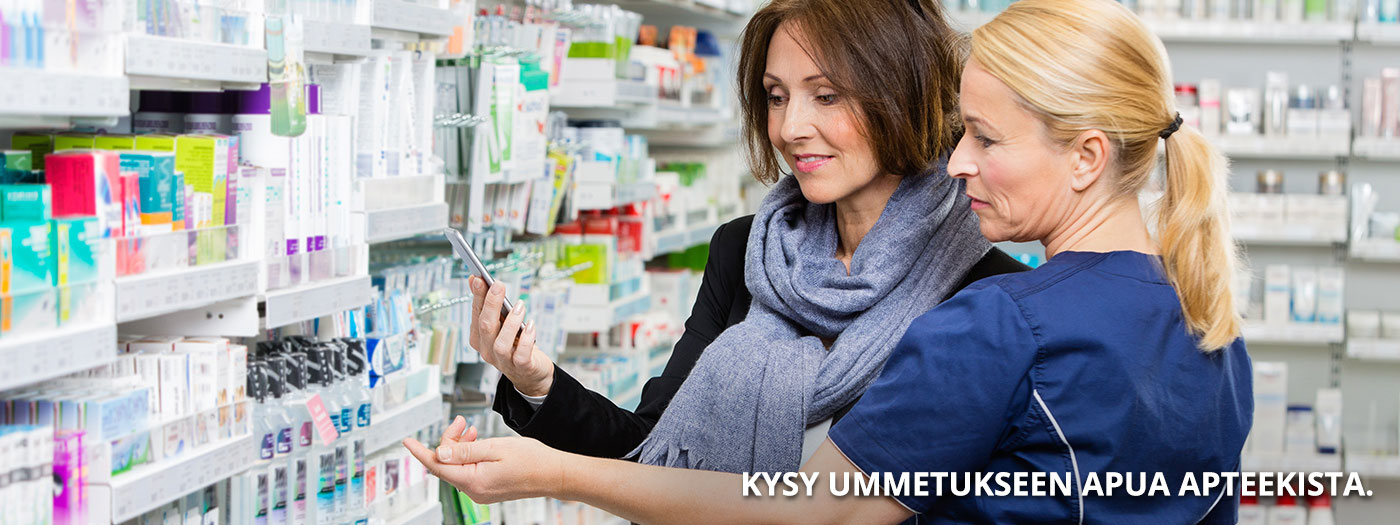 Kysy lisää apteekista saatavista ummetuksen hoitoon tarkoitetuista valmisteista